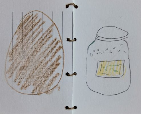Kugelhupf, Kochbuch, Skizze, Ei, Zucker, © Sigrid Wurzinger