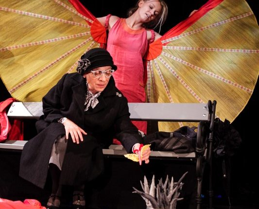 Träume Träume!, Kindertheater, Tanz, Musik, Schmetterling, Parkbank, © Sigrid Wurzinger