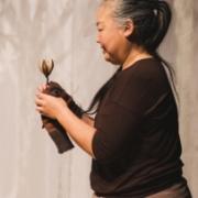 Die lachende Füchsin, Ikebana, © Sigrid Wurzinger